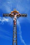 与耶稣基督的美好的十字架 库存照片