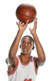 非裔美国人的蓝球运动员 免版税库存照片