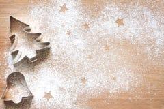 Αφηρημένο υπόβαθρο τροφίμων Χριστουγέννων με τα μπισκότα Στοκ φωτογραφία με δικαίωμα ελεύθερης χρήσης