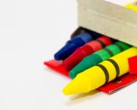 五颜六色的蜡笔 免版税库存照片