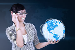 Принципиальная схема глобальной связи Стоковое Изображение