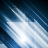 明亮的高科技抽象传染媒介例证 免版税库存照片