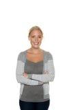 Νέα φιλική γυναίκα Στοκ εικόνα με δικαίωμα ελεύθερης χρήσης