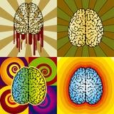 脑子模式 免版税库存照片