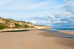 Пляж Омахи, Нормандия, Франция Стоковое Изображение RF