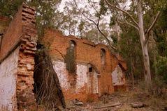 澳大利亚:工业废墟油页岩矿 图库摄影
