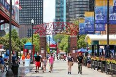 海军码头,芝加哥 免版税图库摄影