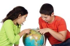 男孩和女孩 免版税库存图片