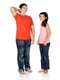 男孩和女孩 免版税库存照片