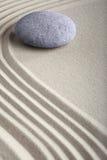 禅宗沙子石头凝思温泉庭院 免版税库存图片
