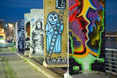柏林围墙的片断 库存照片
