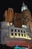 纽约纽约旅馆赌博娱乐场在拉斯维加斯 库存图片