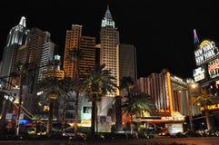 纽约纽约旅馆赌博娱乐场在拉斯维加斯 免版税库存照片