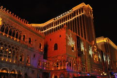 威尼斯式度假旅馆赌博娱乐场在拉斯维加斯 库存图片
