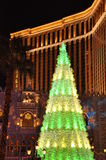 在威尼斯式度假旅馆赌博娱乐场的圣诞节在拉斯维加斯 库存图片