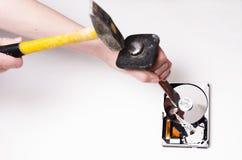 Ο μόνος τρόπος να επισκευαστεί ο σκληρός δίσκος Στοκ εικόνα με δικαίωμα ελεύθερης χρήσης