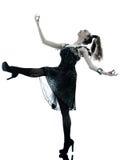 妇女时尚黑色丝绸夏天礼服 免版税库存图片