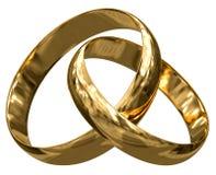 Χρυσά δαχτυλίδια (πορεία ψαλιδίσματος συμπεριλαμβανόμενη) Στοκ Φωτογραφία