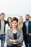 成功的女经理或团队负责人 图库摄影