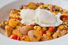 Λαθραία αυγά, εγχώρια τηγανητά Στοκ Εικόνες