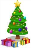 与礼物的圣诞树 免版税图库摄影