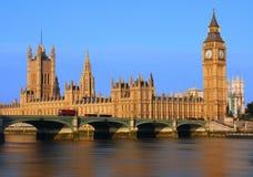 大本钟在伦敦 库存图片
