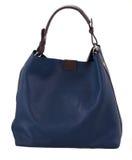 蓝色女性袋子 免版税库存照片