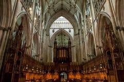 约克大教堂在约克,英国 免版税图库摄影