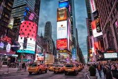 时代广场在夜之前 免版税图库摄影