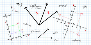 Математически предпосылка геометрии Стоковое фото RF