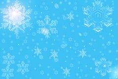 Снежинки рождества Стоковая Фотография RF