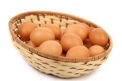Μερικά αυγά στο καλάθι Στοκ φωτογραφίες με δικαίωμα ελεύθερης χρήσης
