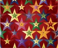 χρωματισμένα αστέρια Στοκ Εικόνες