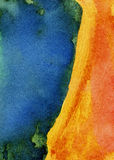 摘要被绘的水彩背景 图库摄影