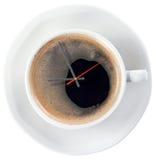咖啡和时间 免版税库存图片