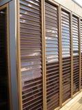 обшивает панелями солнечную вертикаль Стоковое фото RF