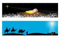 Знамена рождества Стоковые Фото