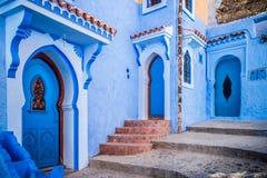 舍夫沙万,摩洛哥 免版税库存照片