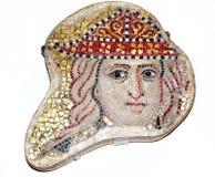在大英博物馆的古老马赛克 免版税图库摄影