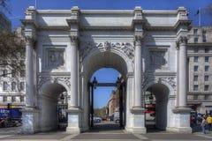 大理石曲拱,伦敦 免版税图库摄影