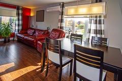 Красная живущая комната. Стоковое Изображение RF