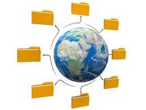 文件夹世界网络结构 免版税库存照片