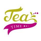 茶时间设计 免版税图库摄影