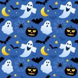 Призраки хеллоуина безшовные Стоковые Фото