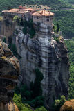 在迈泰奥拉的惊人的风景 免版税库存照片