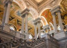 国会图书馆天花板华盛顿 免版税图库摄影