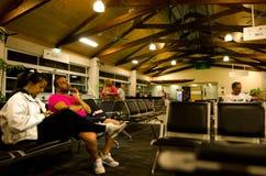 拉罗汤加国际机场-库克群岛 免版税图库摄影