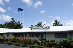 库克群岛的议会在拉罗通加库克群岛 库存图片