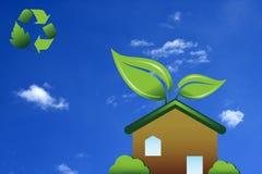 绿色家 免版税库存图片