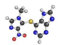 咪唑硫嘌呤免抑制疫力的药物,化学结构 免版税图库摄影